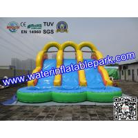 China 18OZ PVC  Fun Adult Inflatable Water Slides Rentals For Event And Party on sale