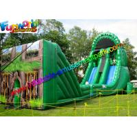 Wholesale Green Forest Inflatable Slide Zip Line Crazy With 21L x 6W x 11H Meter from china suppliers