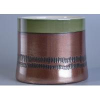 Wholesale Brown Glazed Candle Holders Ceramic Circles Green Top Home Decor from china suppliers
