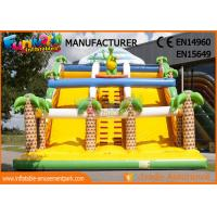 Wholesale Yellow Color Commercial Inflatable Slide For Adult / Blow Up Jumping Slide from china suppliers