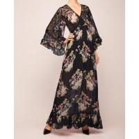 Wholesale Fashion Design Empire Waist Floral Embroidered V-Neckline Maxi Woman Dress from china suppliers