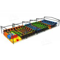 Wholesale Gymnastic Indoor Play Equipment , Indoor Trampoline Park Installation Draft Provided from china suppliers