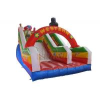 Quality Commercial Blow Up Water Slides , Western Theme Large Inflatable Water Slide for sale