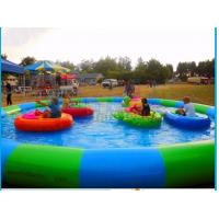 China High Tensile Inflatable Water Pool , Small Round Inflatable Pool For Bumper Boat on sale