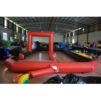China Inflatable racing track for karting games interesting outdoor inflatable sport games racing area on sale