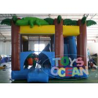 Wholesale 0.55mm PVC Inflatable Amazon Crocodile Bouncer Combo With Slide from china suppliers