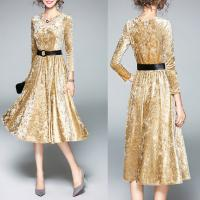 Wholesale A-line Long Sleeve elegant office dresses for lady from china suppliers