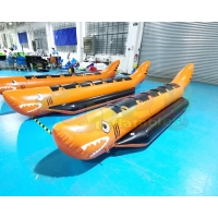 Wholesale Water Sport Equipment Rowing Banana Inflatable Boat Toys from china suppliers