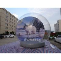 China Christmas Outdoor Decoration 5M Giant Inflatable Human Snow Globe on sale