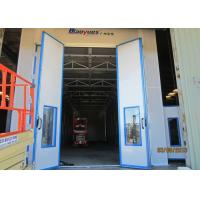 Large Sides Downdraft Paint Booth With Stainless Steel Heat Exchanger, Diesel Burner Heating