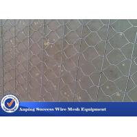 Wholesale Multi Function Rock Baskets Wire Mesh , Rock Gabion Baskets Silver Green Color from china suppliers