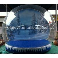 Buy cheap PVC inflatable Snow globe, TPU Air Show Dome for Christmas, Colorful Christmas from wholesalers