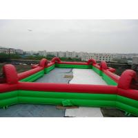 Buy cheap Commercial Inflatable Football Game / Soccer Field Sports Equipment With 0.45mm from wholesalers