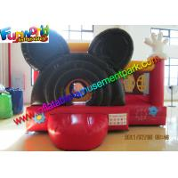Buy cheap Mickey Mouse Inflatable Bounce Houses , Small Jumping Castle With Repair Kit from wholesalers