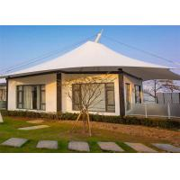 Buy cheap Luxurious White Fabric Structures Pagoda Peak Lodge Glamping Accommodation Tent from wholesalers
