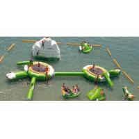 Wholesale 0.9mm PVC Inflatable Water Boucer, Trampoline With Slide, inflatable Trampoline from china suppliers