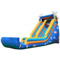 Wholesale Blue Sea Fish Commercial Blow Up Water Slides Professional Fixation Design from china suppliers