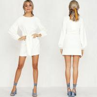 Wholesale Women Apparel Summer White Puff Sleeve Mini Dress from china suppliers