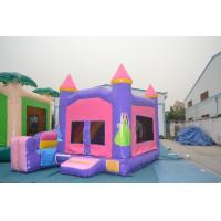 Wholesale Funny Pink Princess Bouncy Castle Inflatable With Basket Ball Game from china suppliers