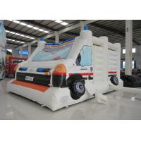 Wholesale Ambulance Games Kids Inflatable Bounce House 0.55mm Pvc Tarpaulin 6 X 4m For Amusement Park from china suppliers