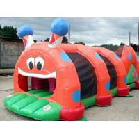China Red Inflatable Tunnel Maze, Thumb Caterpillar Play Tunnel For Kids on sale