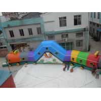 Wholesale Various colors 0.55mm PVC Tarpaulin Train Attractive Inflatable Sports Tunnel from china suppliers