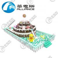 Buy cheap Waterproof Inflatable Obstacle Course Large Size Cake Pattern Anti UV No Fading from wholesalers