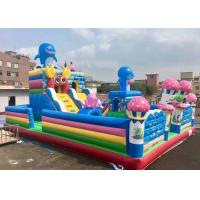 Wholesale Blue Sea Octopus Inflatable Bouncy Castle Fun City / Kids Blow Up Bouncer Combo from china suppliers