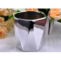 Wholesale Electroplating Finish Color Hexagon Ceramic Candle Holder / Jar Environmental friendly from china suppliers