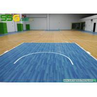 Multi Purpose PVC Vinyl Flooring For School Oak Style / Vinyl Sports Flooring