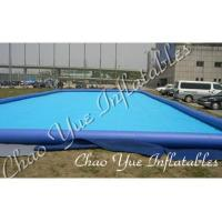 Wholesale Blue Outdoor Inflatable Pool IP17 0.6mm / 0.9mm For Entertainment Center(CYPL-1506) from china suppliers