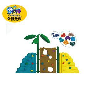 Custom Durable Plastic Kids Rock Climbing Wall 5 - 12 Years Age Group