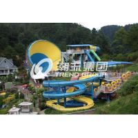 Wholesale Huge Tornado Custom Water Slides For Family Riding , Width 18.6m from china suppliers