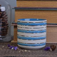 Wholesale Eco-friendly Hand Painted Candle Cup Holders Ceramic Candle Jars from china suppliers