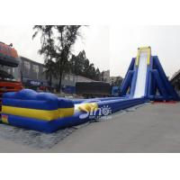 China 10m high giant blow up hippo inflatable adult water slide with lead free material for inflatable water park on sale