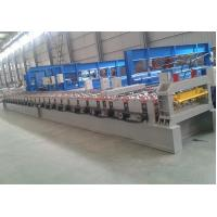 "Wholesale Decking Floor Step Tile Roll Forming Machine 28 Roller Stations 2"" Chain Transmission from china suppliers"