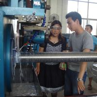 Wholesale Ball Screw Wrapped Wedge Wire Mesh Making Machine With Lock Expanding Ring from china suppliers