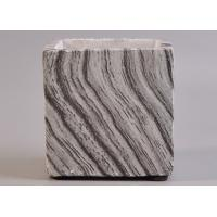 Wholesale Concrete Cement Ceramic Candle Holder High - End Square Marble Effect from china suppliers