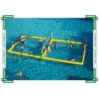 China Yellow Inflatable Water Volleyball Court / Floating Volleyball Court on sale