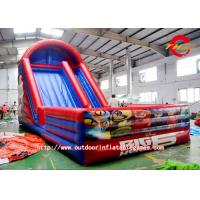 China Adult Inflatable Water Slide Super Corps Red Green 0.5mm PVC  Large on sale