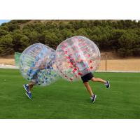 Wholesale Airtight PVC And TPU Transparent Inflatable Human Bumper Soccer Bubble Football Ball With Pump from china suppliers