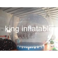 China Exhibition Show Christmas Inflatable Snow Globes Outdoors 3m Diameter on sale