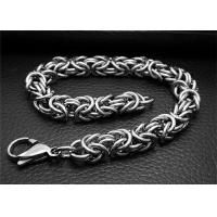 Buy cheap Adjustable Silver Stainless Steel Bangle Bracelets With Double Bone Charms Link from wholesalers