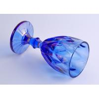 Popular Iridescent Blue Stemware Embossed Glass Candle Holder
