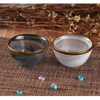 Quality Gold Edge Decorative Glassware Glass Candle Bowl With Dust Cloud Color for sale