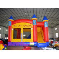 China Small Inflatable Bouncy Castle 16.5' 0.55mm PLATO PVC Tarpaulin Material on sale