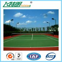 Wholesale Indoor Sport Court Flooring / Shock Absorbing Elastic Flooring Fastest Tennis Court Surface from china suppliers