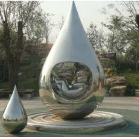 Wholesale Metal Garden Art Sculpture Water Droplets With Baby Idea Design In Polished Surface from china suppliers