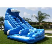 China Inflatable Water Slide , Blue Used Inflatable Commercial Water Slide For Rent on sale