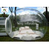 Buy cheap 4.5m Transparent Inflatable Bubble Tent With Tunnel For Outdoor Camping Rent from wholesalers
